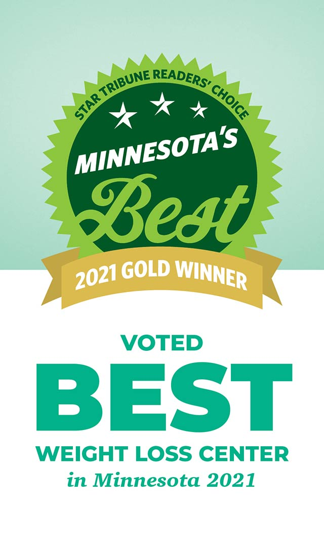 Voted Best Weight Loss Center in Minnesota 2021